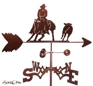 western style cutting horse weathervane