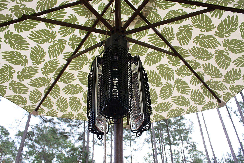 fire sense patio heater stored easy under the umbrella