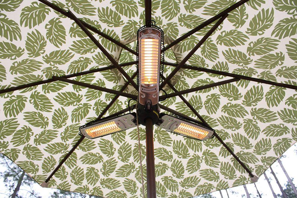 fire sense infrared under parasol patio heater