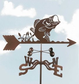 bass fish weather vane