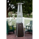 golden flame resort glass tube pyramid patio heater