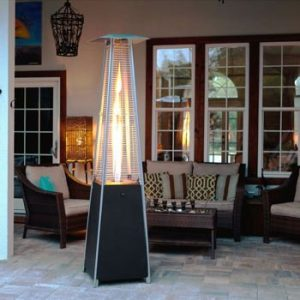 glass tube golden flame pyramid patio heater review