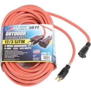 12 gauge 1850 watt extension cord for outdoor use
