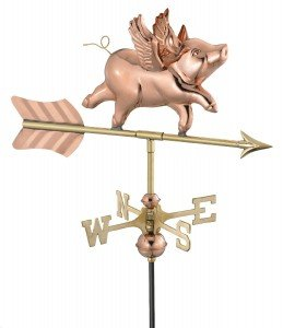 flying pig weather vane