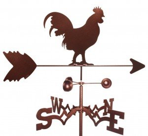 rooster wind vane with roorf mount