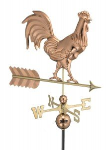 rooster weathervane smythsonian copper polished