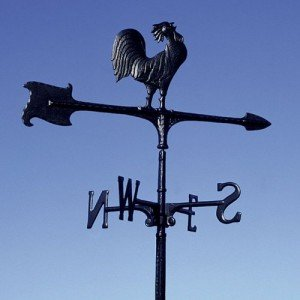 accent rooster weathervane