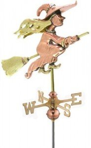 Witch wind vane for roof top