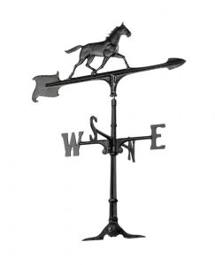 30 inche weathervane with horse ornament