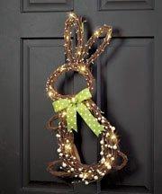 Easter Bunny Springtime Door Hanging Wreath