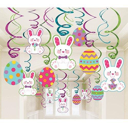 Easter Mega Value Pack Foil Swirl Decorations