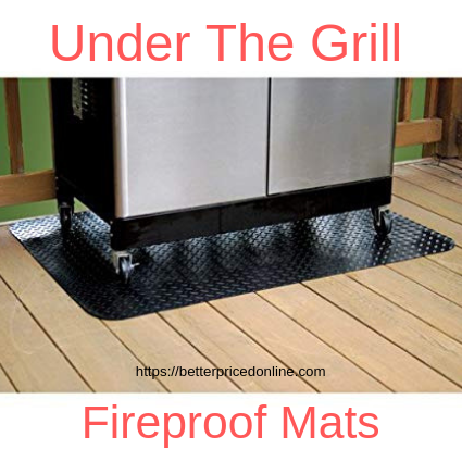 fireproof mats for under the grill