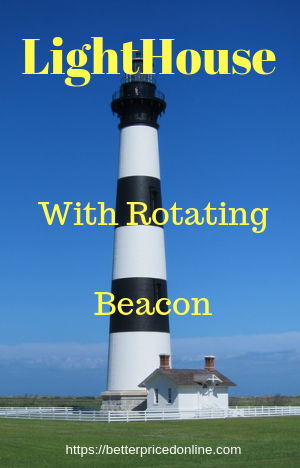 Solar Lighthouse With Rotating Beacon