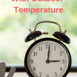 Projection Clock With Outdoor Temperature
