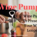 wine preserver vacuum pump