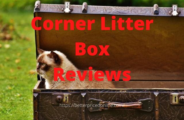 Corner litter boxes