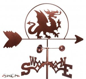 Weather vane with a dragon
