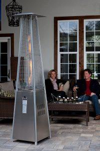 fire sense pyramid stainless steel patio heater