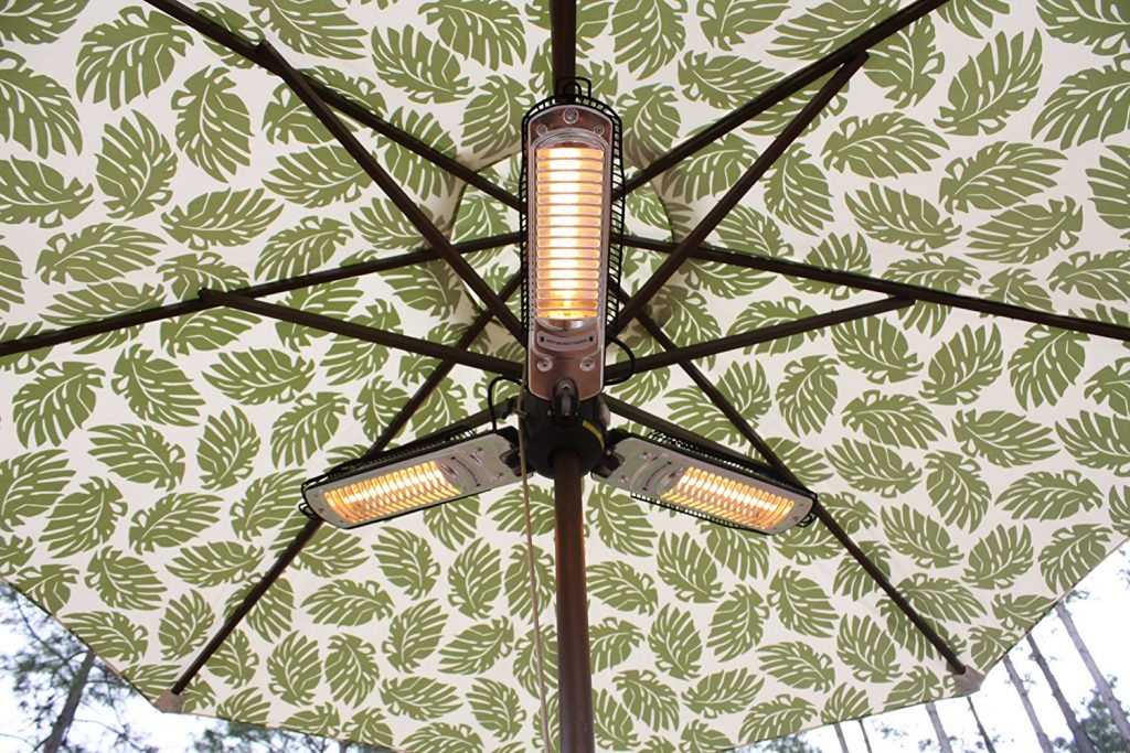 fire sense infrared under parasol patio heater