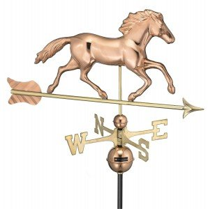 weather vane with a horse