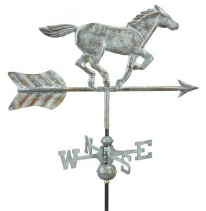 horse weather vane for roof or pole mount