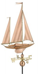 Good directions large sail boat wind vane
