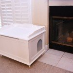designer litter box white