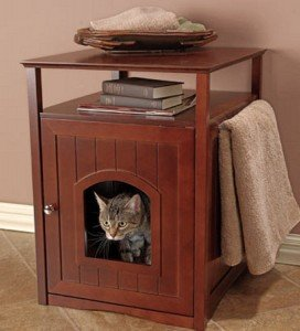 merry pet cat washroom walnut