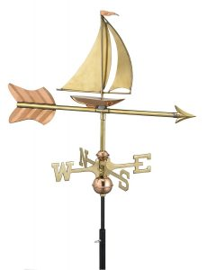 Good  direction sail boat weather vane for small structure